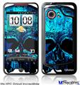 HTC Droid Incredible Skin - Blueskull
